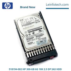 HP-518194-002-300-GB-6G-10Krpm-2-5-DP-SAS-HDD-For-G1-G7-Proliant-SAS-Servers