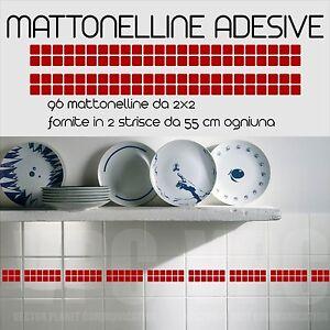 96 mattonelle adesive per piastrelle 2 striscie da 48 for Mattonelle adesive