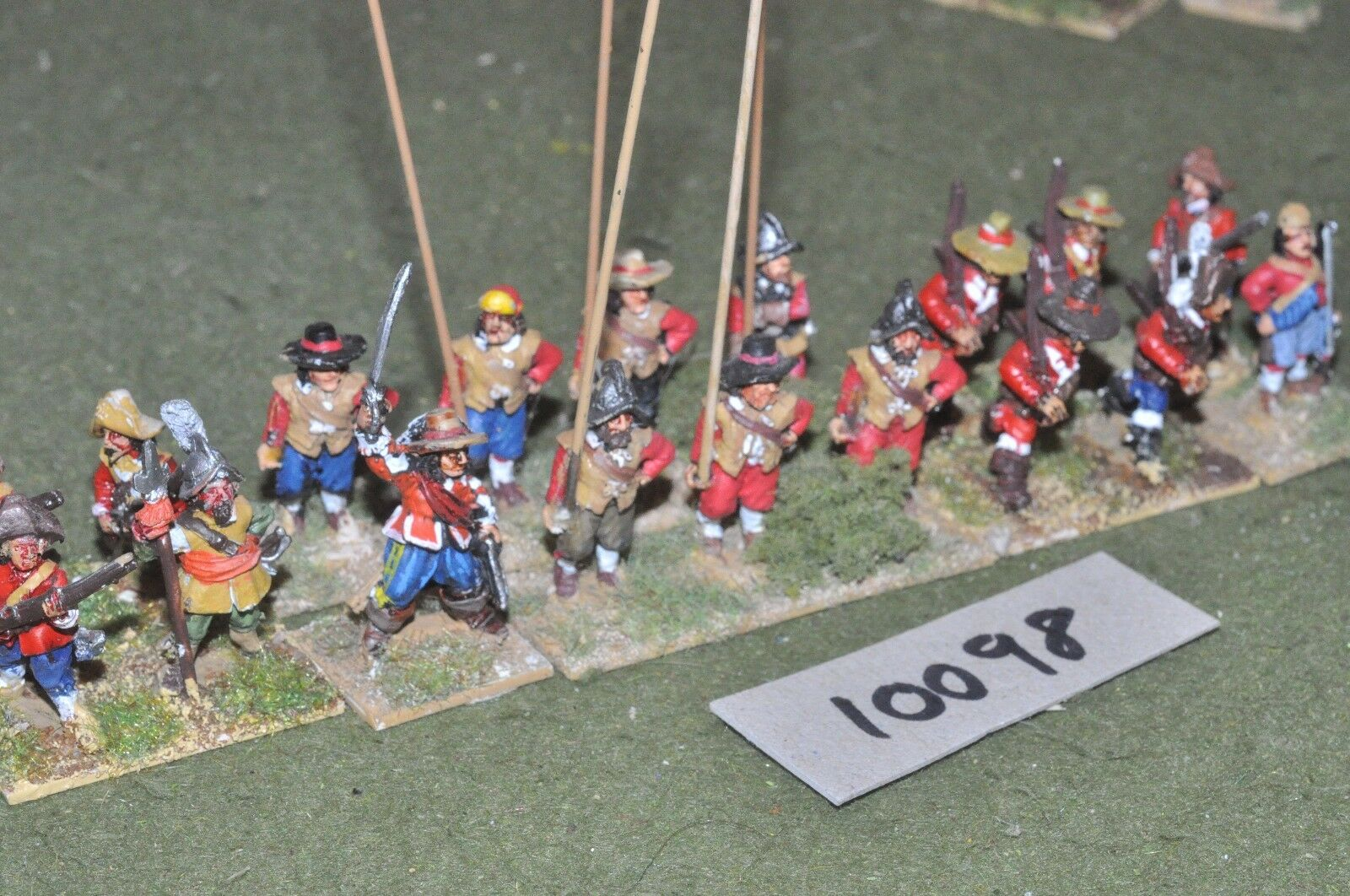25mm ECW   english - civil war 18 infantry - inf (10098)