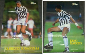 MAXI-POSTER-HURRA-JUVENTUS-RAVANELLI-BAGGIO-1993-POSTER-DOPPIO-60X85