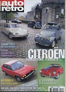 AUTO-RETRO-n-262-02-2003-CITROEN-2CV-DS-SM-TRACTION-ALFASUD-Ti-VW-KARMANN-GHIA