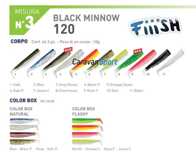 Brochet, Fiiish Black Minnow Pâle Combo 120,140,160mm 6gr.10gr.15gr