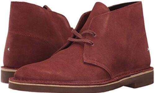 En Clarks 2 Nuevo Caja Bushacre Safari Hombre Rojo Chukka Botas Óxido Zapatos wqxqad4tH