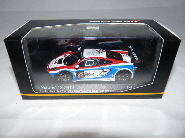 Minichamps 437141382 mclaren mp4-12c gt3-Russian team 24h spa 2014
