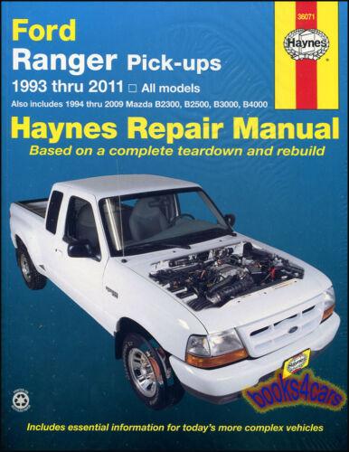 SHOP MANUAL RANGER SERVICE REPAIR FORD HAYNES BOOK CHILTON MAZDA PICKUP WORKSHOP
