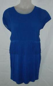Royal-Blue-Jr-XXL-15-16-Soft-Stretchy-Church-Office-BodyCon-Fringe-Dress