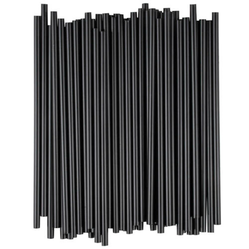 "1000 Black Cocktail Slim Straw Stir Sip 5/"" Free Shipping US Only"