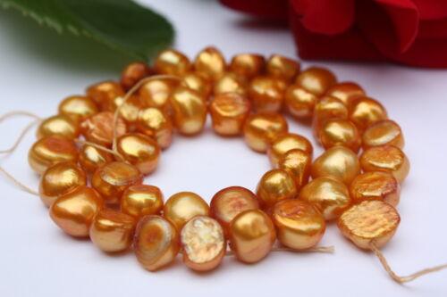 Bk11 de culture strang vraies perles Bijoux Chaîne Collier 8-9mm baroque