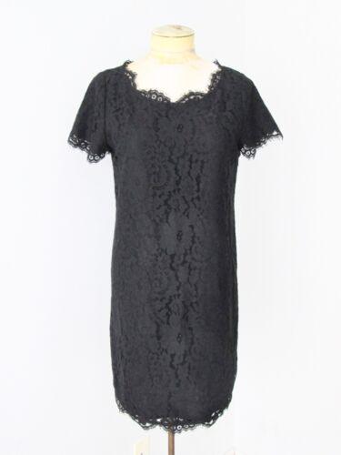 Joie black floral cutwork lace mod sheath dress fe