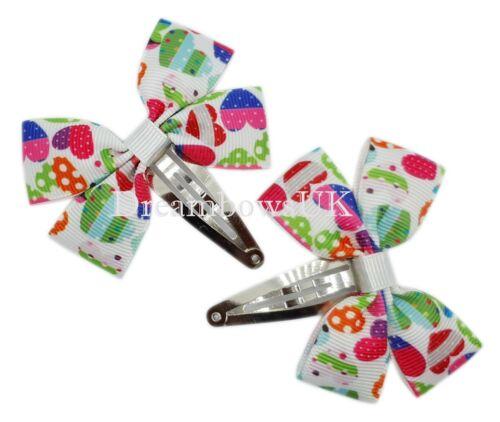 Pretty hearts ribbon hair accessories Girls hair bows Toddler hair clips Bobbles
