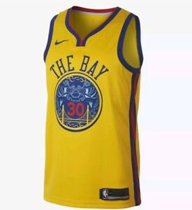 263702aa1184 Nike Steph Curry Jersey City Edition Brand New Sz XL 912101-728 ...