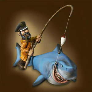 1-32-Pirates-and-sharks-Resin-Model-Kits-Unpainted-GK-Unassembled-Figure