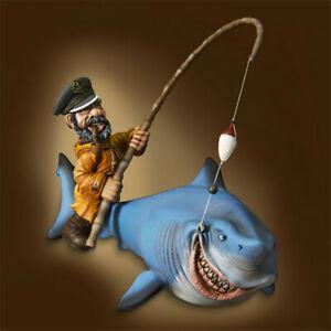 1-32-Pirates-et-requins-Resin-Model-Kits-non-peinte-GK-non-Figure