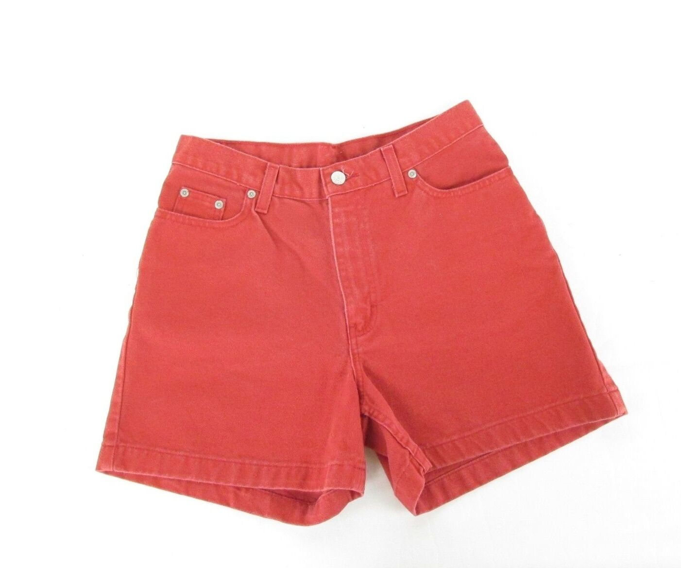 Vintage 90s colord Red HIGH WAISTED WOMEN'S DENIM JEAN SHORTS 31  Waist