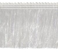 Fransen 60 mm breit Weiß / Perlmuttfarbe Fransenborte Posamentenborte Bordüre
