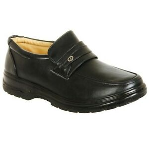 Mens Black Lightweight Shoes Comfortable Touch Fastening 6 7 8 9 10 11 12