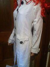 stunning MORGAN DE TOI smart white spring -  button up coat genuine size 10  uk