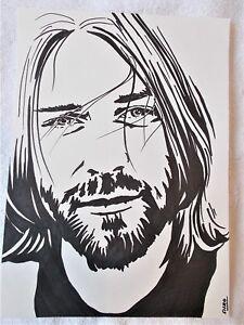 Image Is Loading A4 Art Marker Pen Sketch Drawing Musician Singer