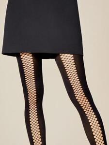 Collant sexy noir femme fantaisie résille   opaque 40 den FIORE ... b0818b7844d