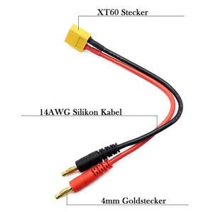 Ladekabel 4mm Bananenstecker auf XT60 Stecker