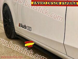 2X-Laterales-Pegatinas-Decal-stickers-De-Vinilos-Coche-Audi-Sport-RS-60x7cm