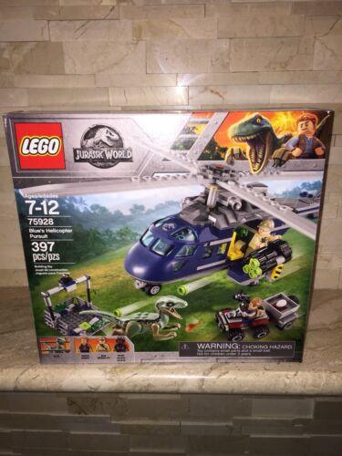 LEGO JURASSIC WORLD SET 75928 BLUES HELICOPTER PURSUIT