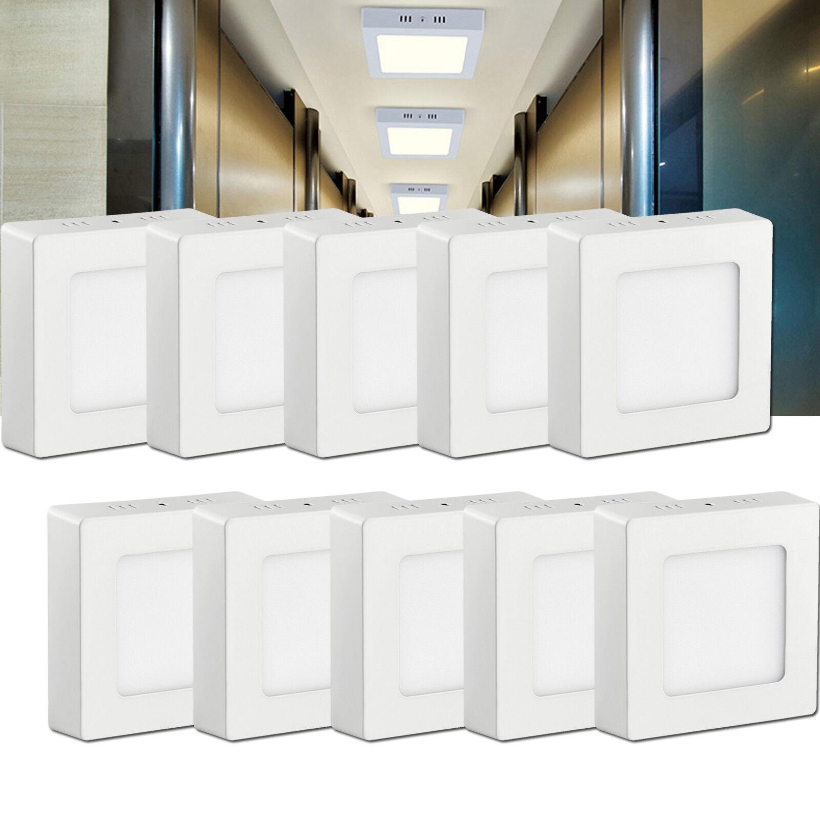 10x 6w panel LED lámpara lámpara aufputzlampe medidor lámpara de techo lámpara de parojo blancoo fria