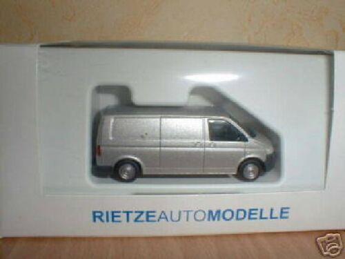 Rietze VW T5 Transporter Flachdach Kasten silber metal