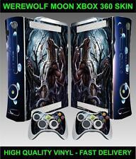 XBOX 360 CONSOLE STICKER WEREWOLF MOON SKIN GRAPHICS & 2 CONTROLLER SKINS