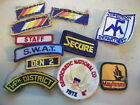 Lot of 10 mixed USA embroidered cloth patches,including S.W.A.T.