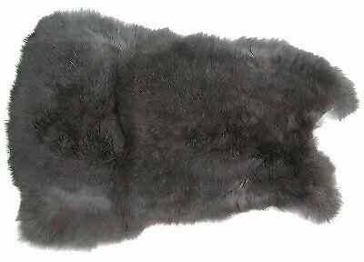 Kaninchenfelle grau naturfarben ca Felle vom Kaninchen mit seidigem 28x30 cm