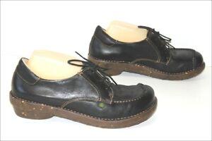 EL-NATURALISTA-Sneakers-Derby-a-Lacets-Cuir-Graine-Noir-T-41-TTBE