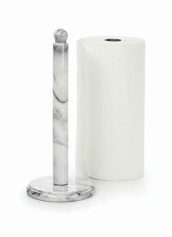 RSVP White Marble Paper Towel Holder