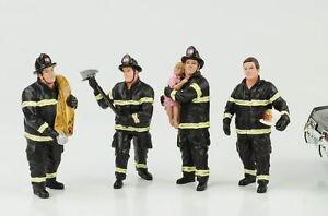 Fire-brigade-Feuerwehr-Mann-Set-4-Figuren-Figur-1-18-American-Diorama-no-car
