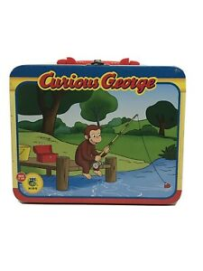 Vintage Curious George  Collectible Tin Lunch Box