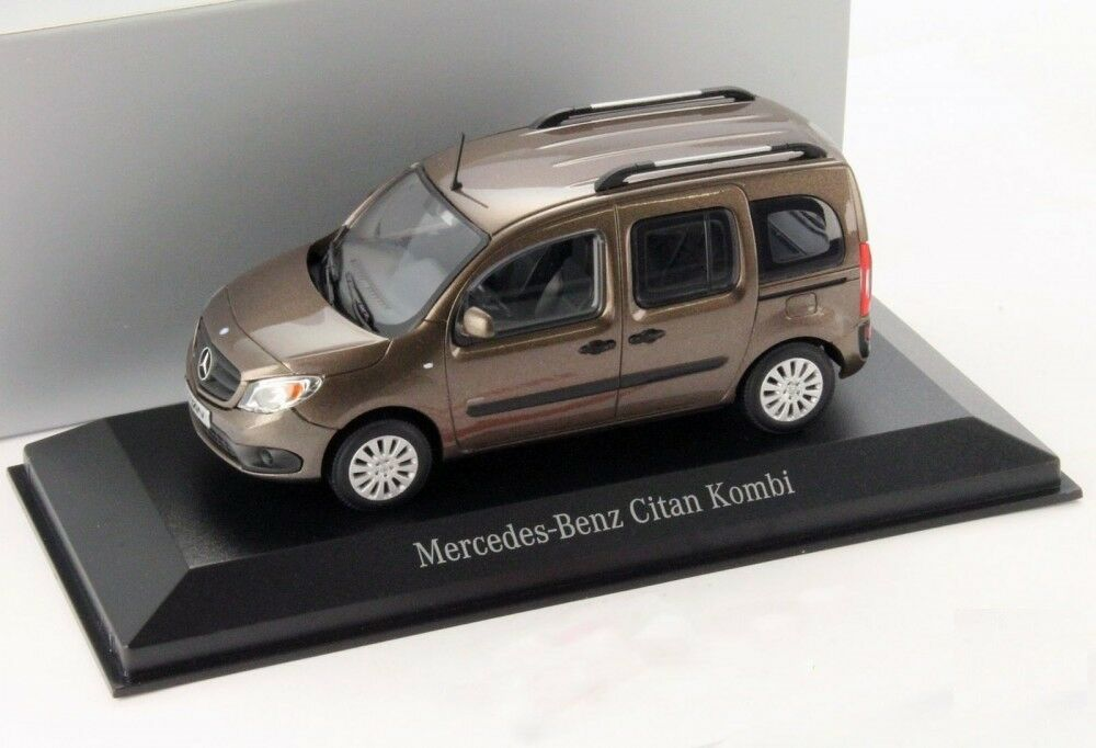 MERCEDES CITAN W415 2012 marron METALLIC MINICHAMPS B66004124 1 43 BENZ VITRE
