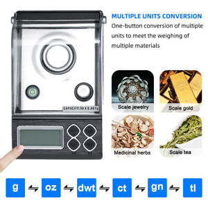 Precision Portable Electronic Jewelry Scale Gold Balance 0.001g Digital Counting
