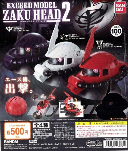 BANDAI GASHAPON GUNDAM EXCEED MODEL ZAKU HEAD vol.2 SET OF 3