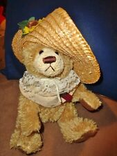 Bear of Love Brass Button Legendary Collection Girl Straw Hat Cathy stuff plush