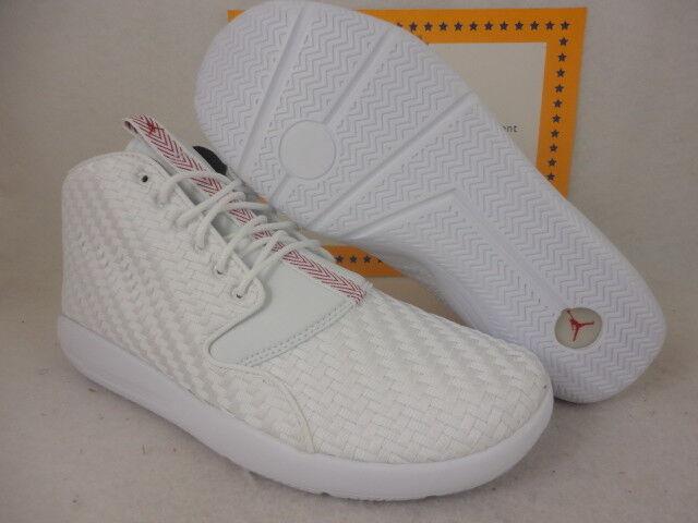Nike Jordan Eclipse Chukka, White   Gym Red   Black, 881453 101, Sz 12