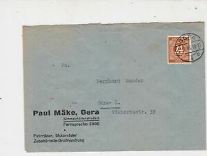 Germany 1946 Allied Occupation to Thuringia Gera Cancel Stamps Cover ref 23220