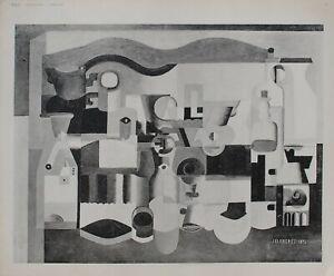 Le Corbusier: Cubismo,Naturaleza Muerta Aux Muchos Objetos - Grabado Firma -