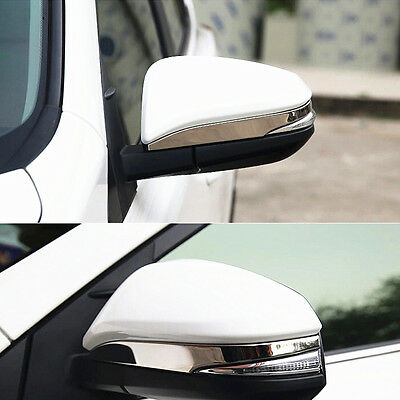 For Toyota Camry 2014 2015 2PCS Stainless Rear view rearview Mirror Cover Trim