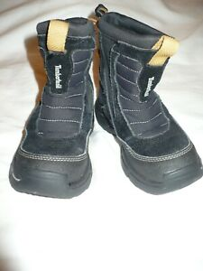 Timberland Boys Black Thermolite Pull-On Waterproof Snow Winter Boots - SZ 10