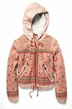 Free People pink beaded quilted jacket Size M NWT