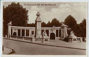 C5877cgt-UK-Portsmouth-WW1-War-Memorial-postcard