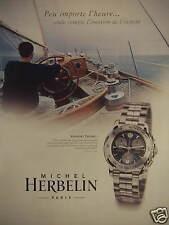PUBLICITÉ PAPIER 2000 MONTRE NEWPORT TROPHY MICHEL HERBELIN - ADVERTISING