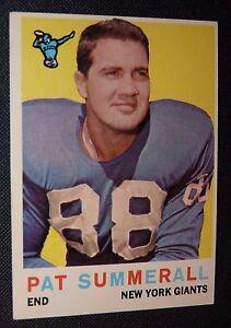 1959 Topps  41 Pat Summerall New York Giants VG+ Football Card Off ... a1b80917d