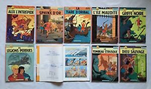 ALIX-1-2-3-4-5-7-DEDICACE-JACQUES-MARTIN-8-9-LOT-BD-ANCIEN-EDITION-CASTERMAN