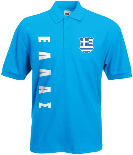 WM 2018 Griechenland ΕΛΛAΣ Polo-Shirt Trikot Name Nummer